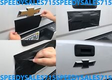 "(1) 10"" x 5"" Matte Black Vinyl Bowtie Overlay Decal For Chevrolet Emblems Oracal"