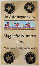 BRONZE STAR Magnetic number pins horse show number magnet holders