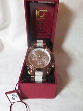 Para mujer Burgi BUR094RG Cuarzo Suizo Reloj Brazalete en tono rosa multifunción