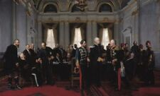 """perfect 48x24 oil painting handpainted on canvas""""Congress of Berlin""""@N8773"""