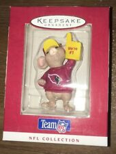 "1996 Hallmark Ornament Team NFL Arizona Cardinals Mouse ""We're #1"" NEW 3"" Tall"