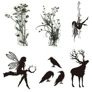 New Clear Stamps Of Forest Plant Deer Crow Soft Transparent Stencil Scrapbooking