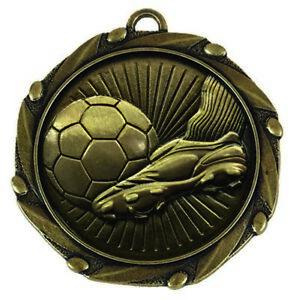 45mm Combo45 Boot and Ball Football Medal with RWB Ribbon (1-100qty) FREE ENGRAV