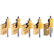 5Pc 8Mm Shank Casing&Base Molding Router Bit Set Cnc Line Knife Woodworking