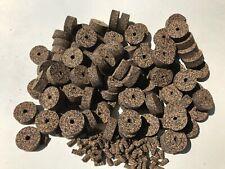 "Cork Rings 100 Mixed Grain Rubberized #15, 1 1/4"" x 1/2"" x 1/"" Hole, Blowout!"