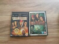 Pirates Of The Caribbean - The Curse Of The Black Pearl & Dead Man's Chest DVD's