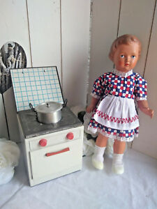 Antique schildkrot doll with kitchen stove german vintage cuisine toy child
