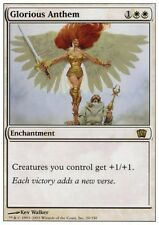 MTG 4x GLORIOUS ANTHEM - 8th Edition *Rare*