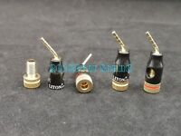 4x Speaker Wire Cable Pin Connector Banana Plug Screw Gold Plated