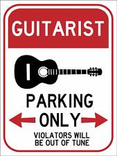 Guitar Parking Metal Sign, Music Decor, Bar Decor, Novelty Decor Wall Accent