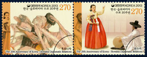 "Korea South 2013 ""The 20th Anniversary of Korea-Slovakia Diplomatic"" 2v Set"
