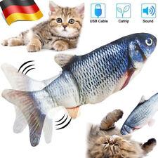 30cm Katzenspielzeug  Elektrischer Graskarpfen Fish Fisch Cat Toy Kratzbaum DE