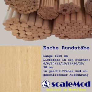 Scale Rundstäbe Esche 8,0 mm Länge 1000 mm VE 1 Stk (1,80 EUR/m)
