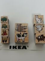 Stampin' Up! Wood Block Mounted Rubber Stamps Lot of 9 animals