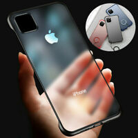 For iPhone 11 Pro XS Max X XR 8 7 Ultra Thin Frameless Case Transparent Cover