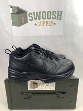Nike Air Monarch IV Trainers Black Black 416355 001 Men's Size 9.5 WIDE 4E EEEE