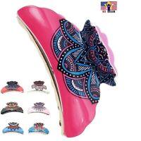 Tribal Southwestern Aztec Painted desert design Headband Pink Navy Stretchy D