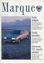 LANCIA la Marque n. 15 primavera del 1990 Dedra Y io APRILIA D50 THEMA