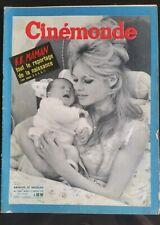 CINEMONDE 19/01/1960; Brigitte Bardot maman, reportage de la naissance