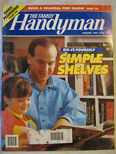 The Family Handyman January 1993 Do It Yourself Simple Shelves, Basic Plumbing