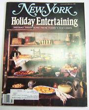 New York Magazine Holiday Entertaining October 1988 032913R