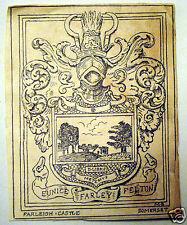 1850s Bookplate Eunice Farley Felton Farleigh Castle Somerset England