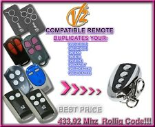 V2 TSC2, V2 TSC4, V2 TRC2, V2 TRC4 compatible télécommande / Cloner 433,92Mhz