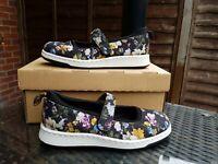 Dr Martens Women Mary Jane Black Floral Askins DF Flowery Shoes UK 8 ref15P2