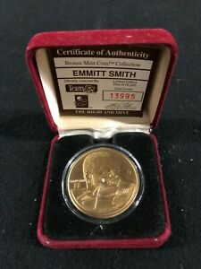 Emmitt Smith Dallas Cowboys Highlan Mint Limited Edition Bronze Mint Coin
