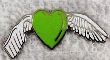 Mental Health Awareness Remembrance angel enamel green badge / brooch.Depression