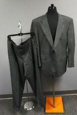 HART SCHAFFNER & MARX Gray Striped Wool Two Button Pant Suit Size 44R GG2418