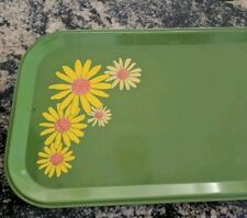 Vintage 1960's 70s Flower power Serving Tray