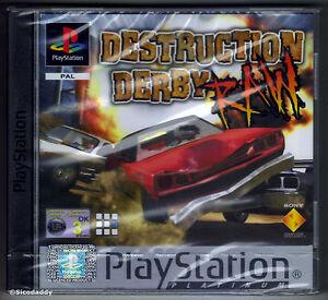 Playstation 1 Destruction Derby Raw Platinum (2002) UK Pal, New & Factory Sealed