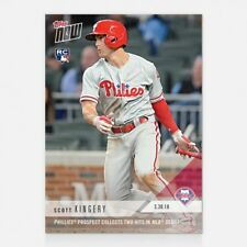 2018 TOPPS NOW #12 SCOTT KINGERY PHILLIES PROSPECT COLLECTS 2 HITS IN MLB DEBUT