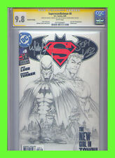 Superman/Batman #8 CGC 9.8 SS 2nd Print Sketch Cover Variant Turner & Loeb VHTF!