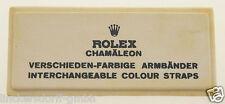 VINTAGE ROLEX CHAMAELEON STRAPS- SIGN / SCHILD OFFICAL AGENT - ROHSEIDE - 1960er