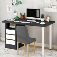 Computer Desk Laptop Study Table Workstation Home Office Wood Furniture W/Drawer