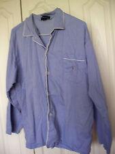 $44  Polo Ralph Lauren Men's Sleepwear Pajama Large PJ Shirt  Blue Cotton Lg Slv