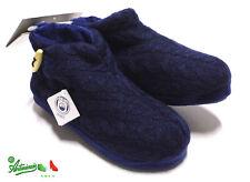DE FONSECA ciabatte pantofole chiuse scarpe donna invernali calde Blu TRENTO W10