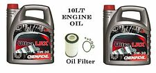 10lt plenamente Sintetizador 5w/30 larga vida de aceite y filtro para adaptarse a Bmw E46 318d 320d E39 520d