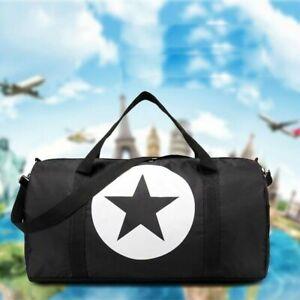 Women Large Capacity Gym Duffel Bag Big Star Shoulder Hobo Shopper Tote Handbag