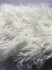 4 Pack-Ivory Long Curly Faux Fur Mongolian Sheepskin Throw Pillow Cover