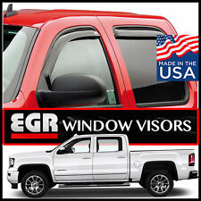 EGR 2014-2017 GMC Crew Cab Sierra 1500 Window Vent Visors In-Channel 4-Pc