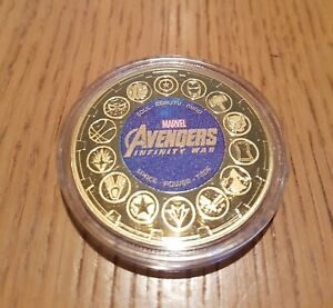 Marvel - Avengers Infinity War  - 5cm Gold-Plated Commemorative Medal Coin