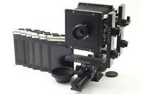 [N MINT] Horseman L45 4x5 Fujinon W 150mm f5.6 Lens Film Holder x 6 from JAPAN