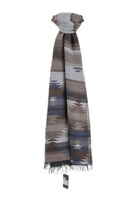 ALTEA MILANO Casual Chic Scarf Modal Wool Alpaca Grey Brown Made in Italy