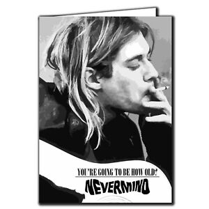 Nirvana Birthday card Nevermind - Kurt Cobain - IN150