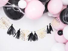 Paper Garland Spiderwebs Fiesta de Los Muertos Halloween Decorations Kids Party