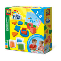 SES CREATIVE Children's My First Play Dough with Cutters Set, 3 Pots, Unisex
