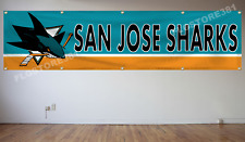 San Jose Sharks NHL Banner Flag 2X8Ft Hockey Flag Decor House Man Cave
